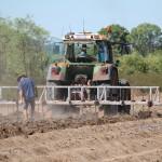 Matt checking the tractor work