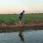 Matt watering Watermelons